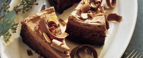 Chocolate cheesecake with Oreo cookie-crumb crust.
