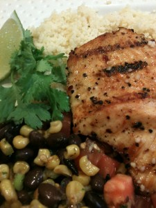 Grilled Turkey Filets with Roasted Corn 'n Black Bean Salsa